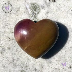 Mookaite Gemstone Crystal Heart